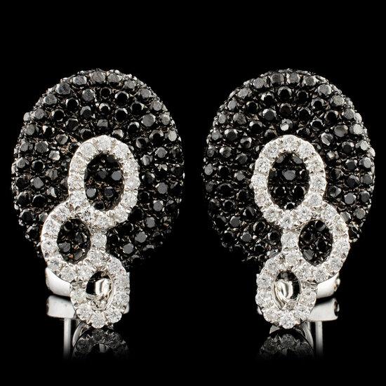 14K Gold 1.72ctw Diamond Earrings