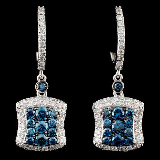 14K Gold 1.73ctw Diamond Earrings