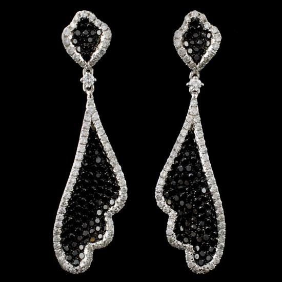 14K White Gold 4.33ctw Fancy Color Diamond Earring
