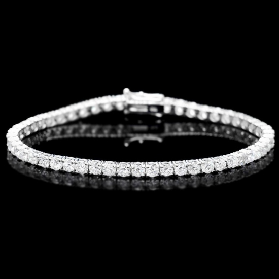 ^18k White Gold 7.50ct Diamond Bracelet