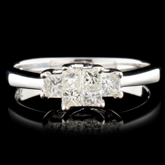 18K Gold 0.50ctw Diamond Ring