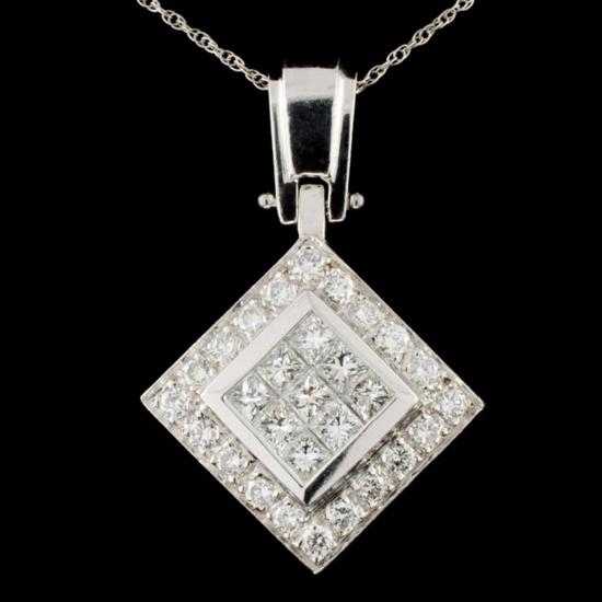 Platinum 2.61ctw Diamond Pendant