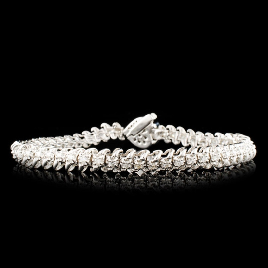 14K Gold 1.92ctw Diamond Bracelet
