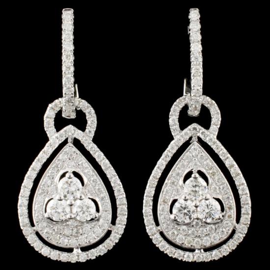 14K Gold 1.28ctw Diamond Earrings