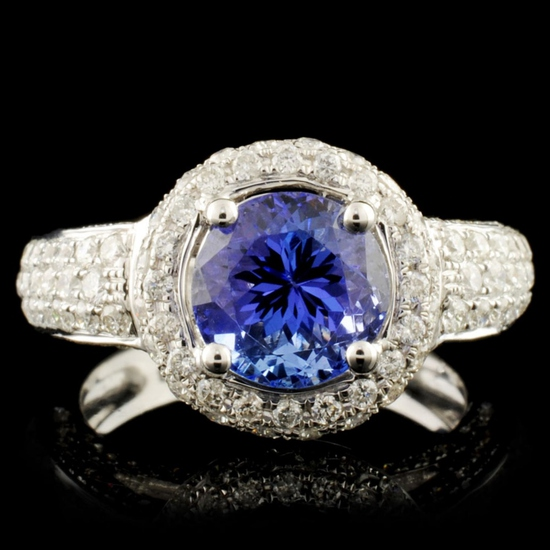 18K Gold 2.15ct Tanzanite & 1.03ctw Diamond Ring