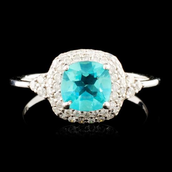 14K Gold 0.76ct Apatite & 0.30ctw Diamond Ring