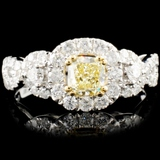 18K Gold 1.35ctw Fancy Color Diamond Ring