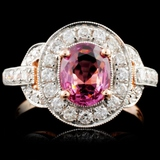 18K Gold 1.30ct Spinel & 0.63ct Diamond Ring