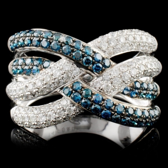 14K White Gold 1.10ctw Fancy Diamond Ring