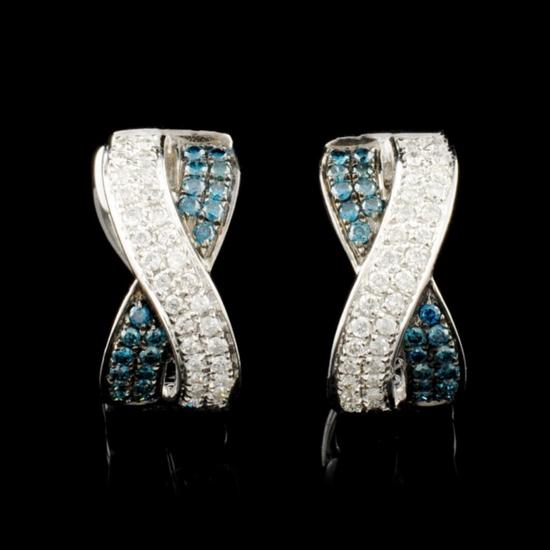14K Gold 0.56ctw Fancy Color Diamond Earrings