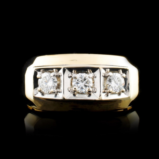 14K Gold 0.56ctw Diamond Ring
