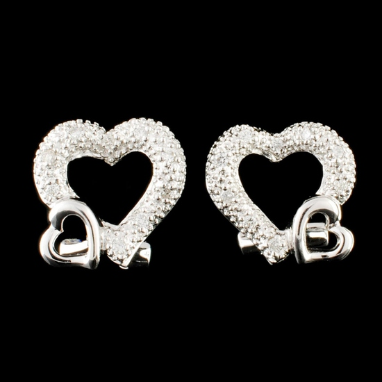 18K Gold 0.16ctw Diamond Earrings
