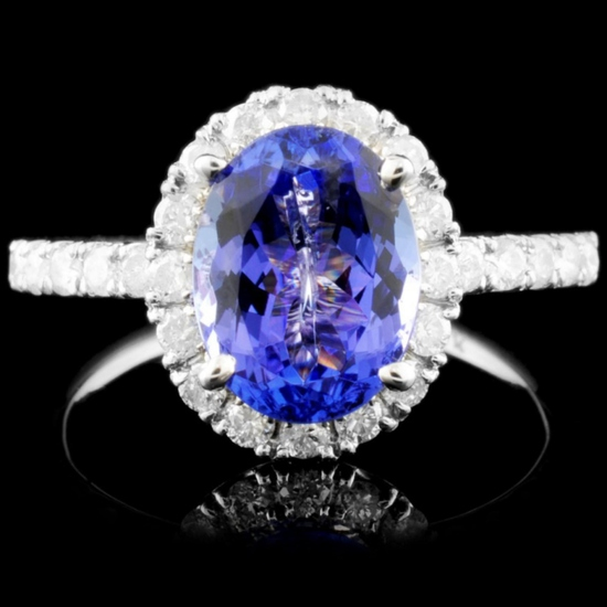 14K Gold 2.37ct Tanzanite & 0.67ctw Diamond Ring