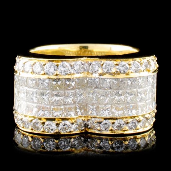 18K Gold 4.49ctw Diamond Ring