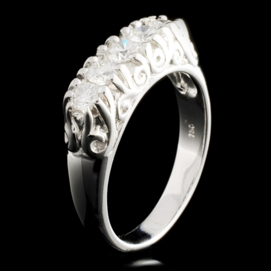 18K Gold 0.60ctw Diamond Ring