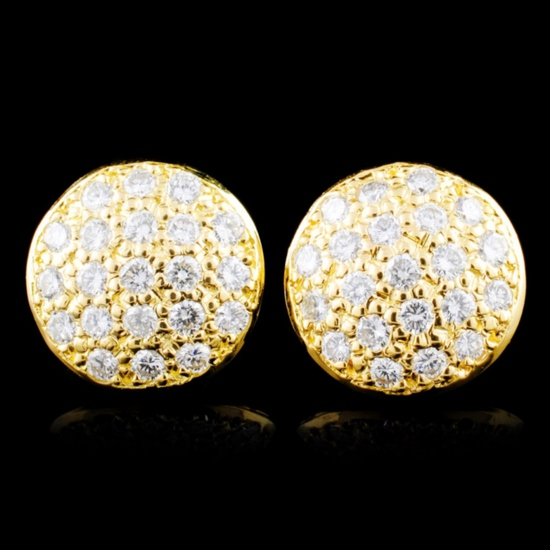 14K Gold 0.76ctw Diamond Earrings