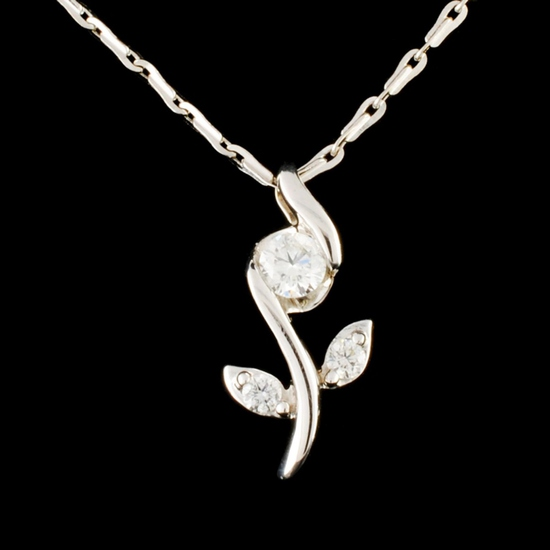 14K Gold 0.34ctw Diamond Pendant