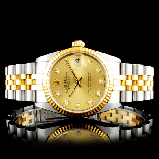 Rolex DateJust 68273 Diamond 31MM Wristwatch