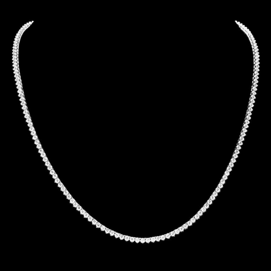 ^18k White Gold 8.00ct Diamond Necklace
