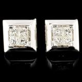 18K Gold 0.50ctw Diamond Earrings
