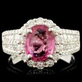 18K Gold 2.03ct Spinel & 1.11ctw Diamond Ring