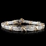 14K Two-Tone 2.68ctw Diamond Bracelet