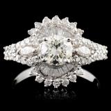 18K Gold 1.55ctw Diamond Ring