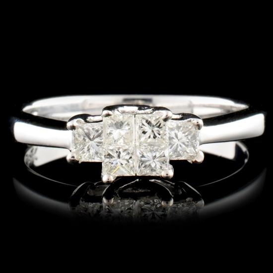 18K Gold 0.50ctw Diamond Ring