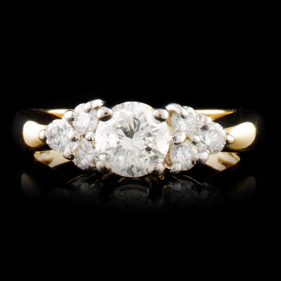 14K Gold 0.98ctw Diamond Ring