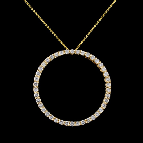 14K Gold 2.80ctw Diamond Pendant
