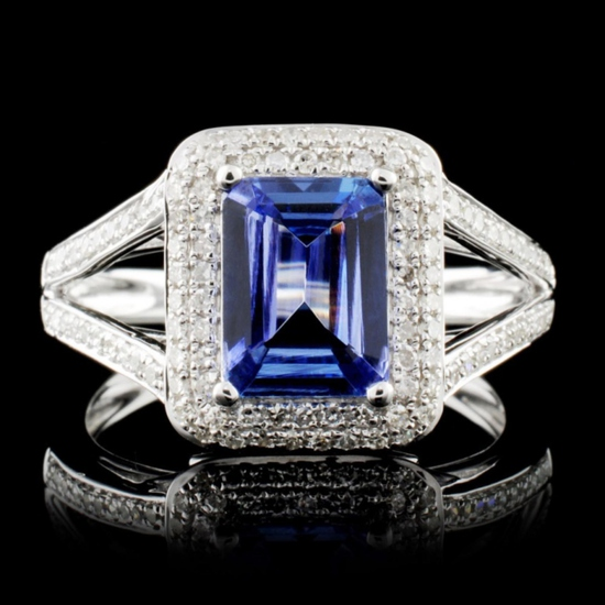 14K Gold 1.49ct Tanzanite & 0.42ctw Diamond Ring