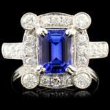 18K Gold 2.01ct Tanzanite & 1.04ctw Diamond Ring