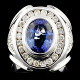 14K Gold 2.50ct Tanzanite & 1.00ctw Diamond Ring