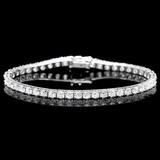 ^18k White Gold 8.00ct Diamond Bracelet