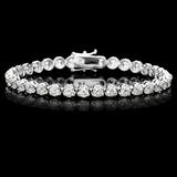 18k White Gold 10.00ct Diamond Tennis Bracelet