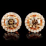 14K Gold 1.19ctw Diamond Earrings
