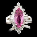 14K Gold 1.65ct Sapphire & 0.99ctw Diamond Ring