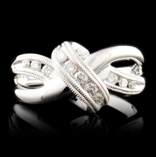 14K Gold 0.19ctw Diamond Ring