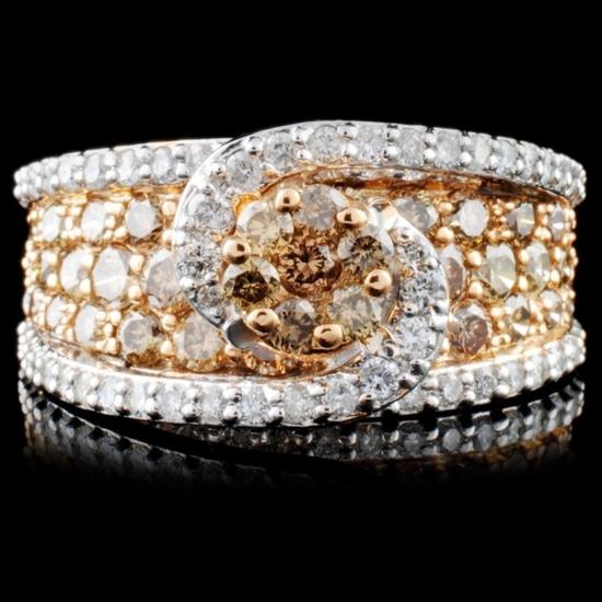 14K Gold 2.45ctw Fancy Diamond Ring
