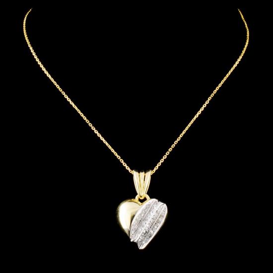 14K Gold 0.31ctw Diamond Pendant