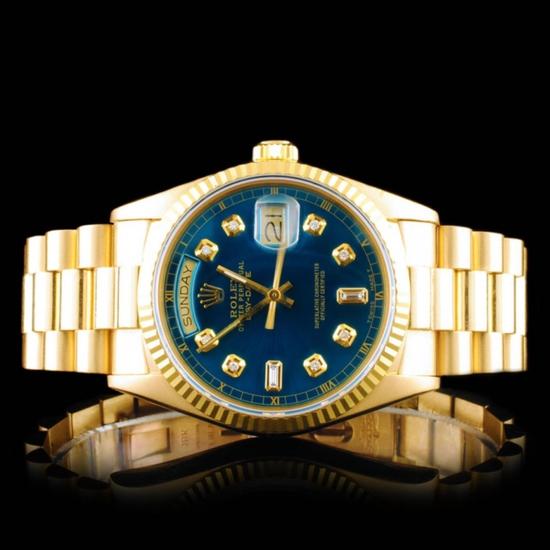 Rolex Day-Date 18K YG Diamond 36mm Wristwatch