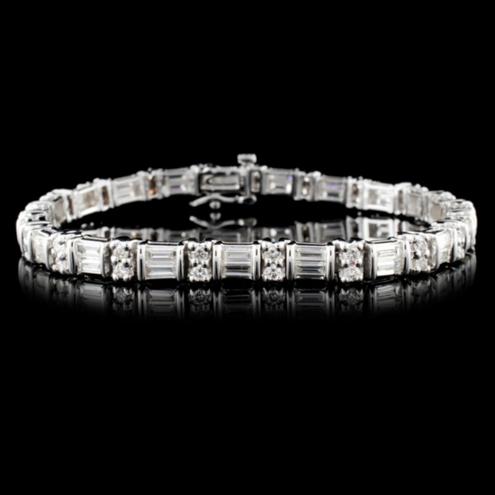 14K White Gold 4.73ctw Diamond Bracelet