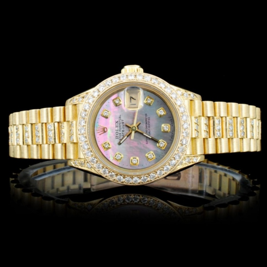 Rolex 18K 3.00ct Diamond Presidential Ladies Watch