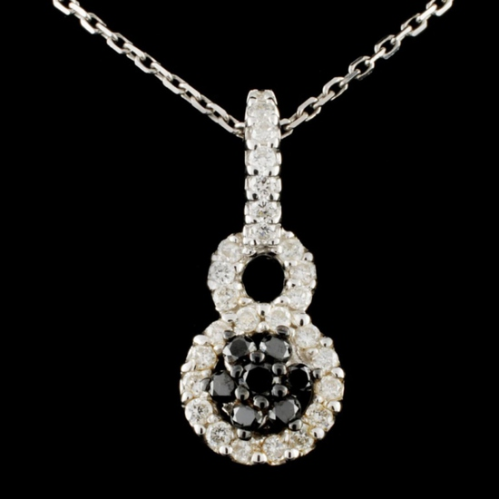 14K Gold 0.62ctw Fancy Diamond Pendant