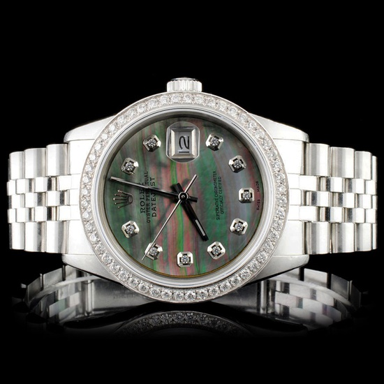 Rolex SS DateJust Diamond 36MM Wristwatch