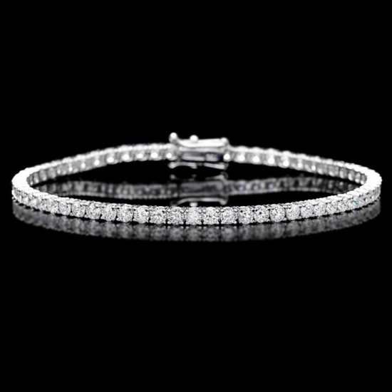 ^18k White Gold 5.00ct Diamond Bracelet