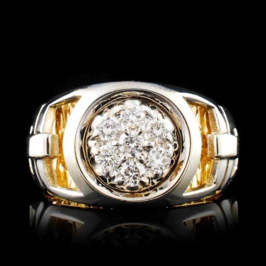 14K Gold 0.56ctw Diamond Ring
