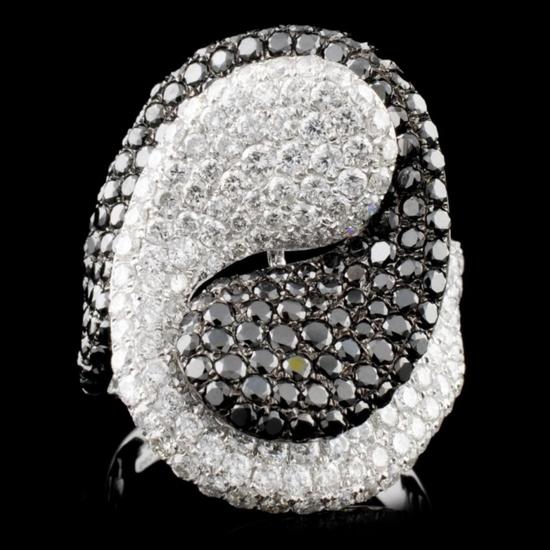14K White Gold 4.22ctw Fancy Diamond Ring