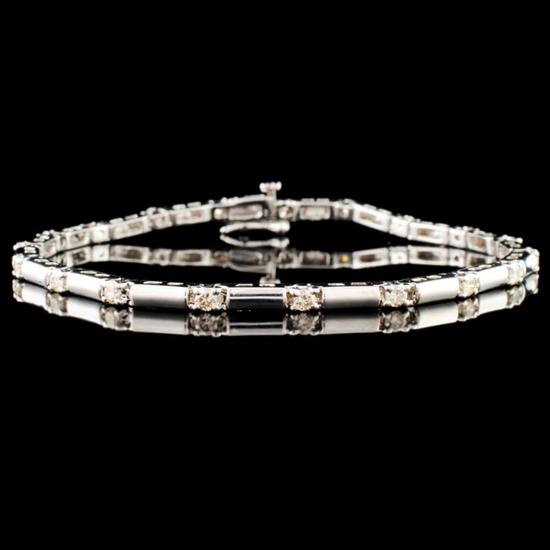 14K Gold 0.57ctw Diamond Bracelet