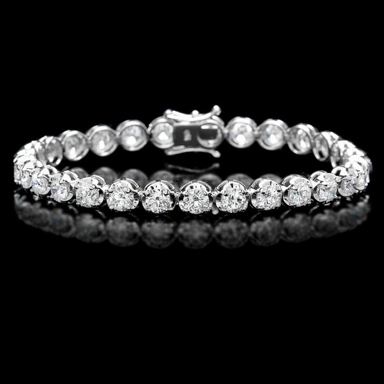18k White Gold 10.00ct Diamond Tennis Bracelet
